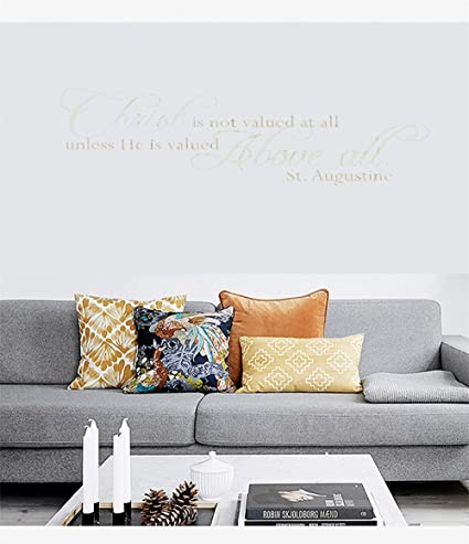 Amazon Wall Sticker Christ Is Not Valued At All Vinyl Wall Delectable Christian Statements Decorative Designs