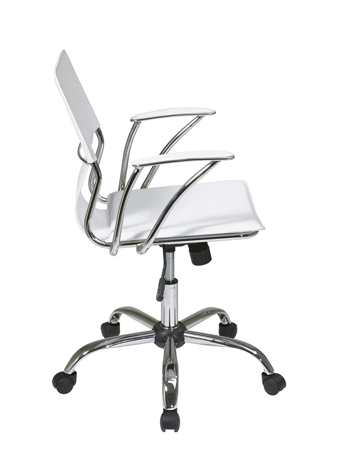 avenue six ave six dorado contour seat and back with built in lumbar support adjustable office chair white