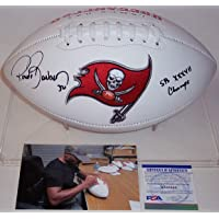 $149 » Ronde Barber Autographed Hand Signed Tampa Bay Bucs Buccaneers Logo Full Size Football - with SB XXXVII Champs Inscription - PSA/DNA