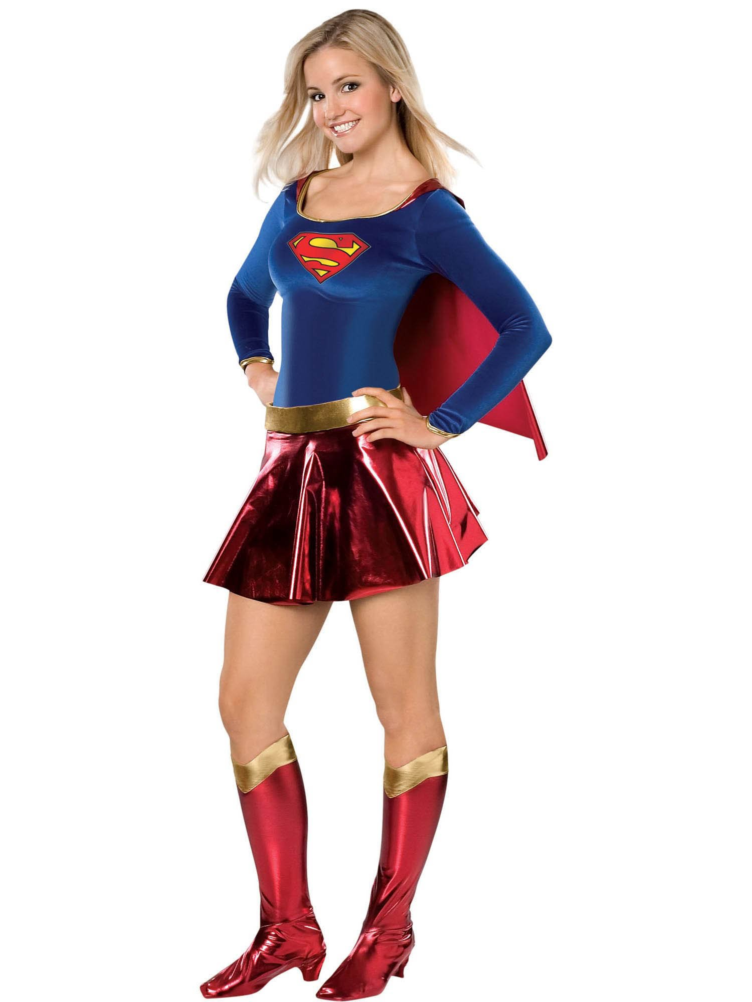 - 71npo5IdaiL - DC Deluxe Supergirl Teen Costume