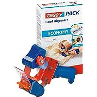tesa Handdispenser Economy, robuuste Verpakkingstapedispenser - precies snijden, met mesbescherming
