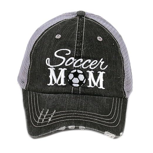 d62b746c8f6 Soccer Mom Sports Game Day Women's Trucker Hats Caps by Katydid