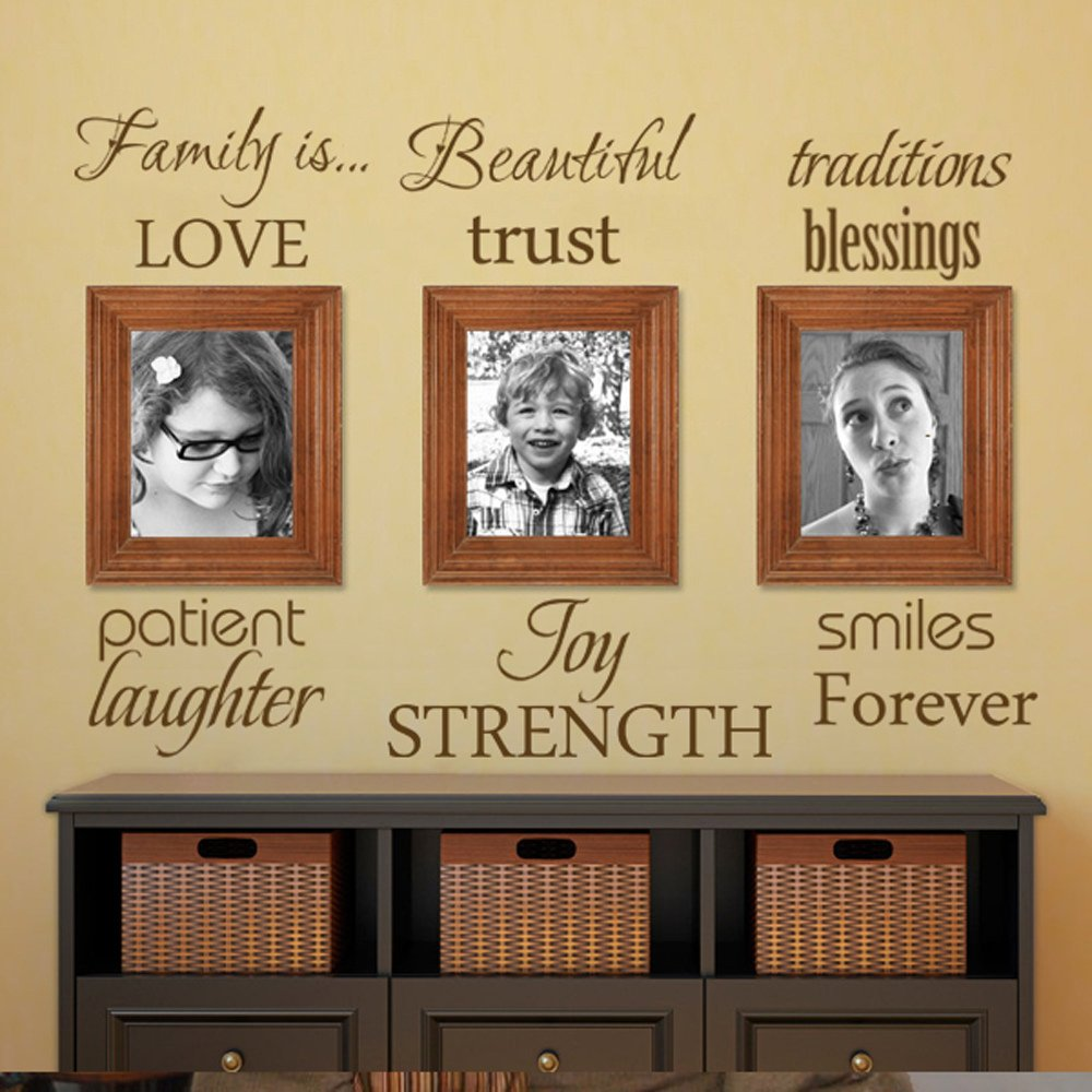 Amazon.com: MairGwall Words Art Vinyl Family Rules Wall Decal Quote ...