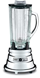 Waring Commercial BB900G 1/2 HP Chrome Bar Blender with 40-Ounce Glass Container