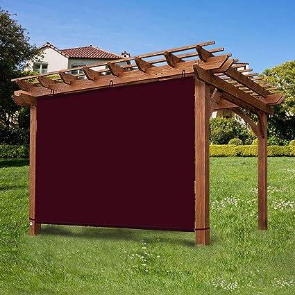 Ecover - Panel Impermeable para Exterior con Cuerdas para pergola/Patio/Canopy, Color Rojo Vino, 15, 2 x 30, 4 cm: Amazon.es: Jardín