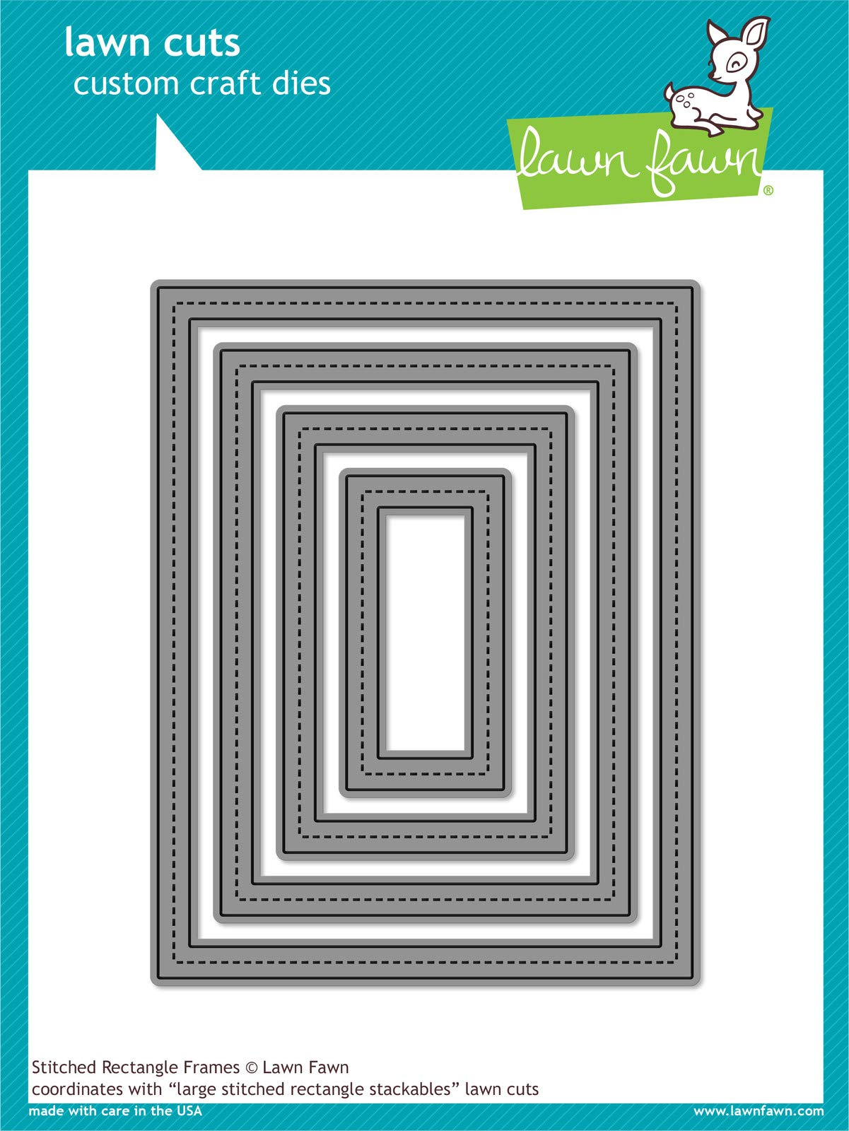 Lawn Fawn Die Cuts - Stitched Rectangle Frames