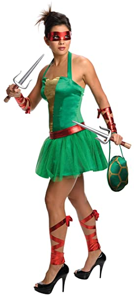Teenage Mutant Ninja Turtles T.M.N.T. Female Raphael Costume ...