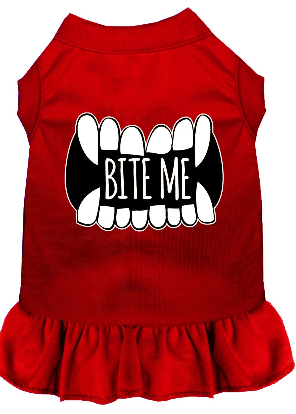 Mirage Pet Products 58-63 RD4X Bite Me Screen Print Dog Dress, 4X-Large, Red