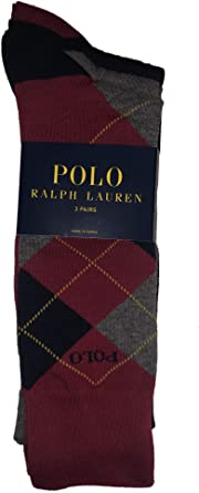 Polo Ralph Lauren Men/'s 2 Pack Argyle Dress Crew Socks 10-13 Multi-color