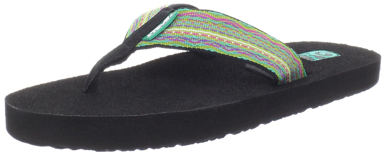Teva Women's Mush II Flip-Flop B008HYRSWE 5 B(M) US|Santori Tribal Neon Lime