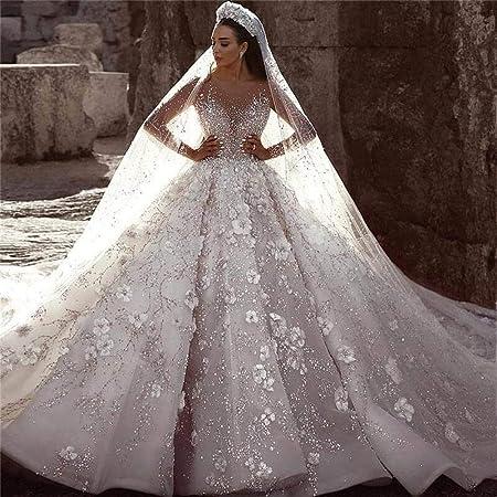 QIUXIANG Robe de mariée femme Luxe Robe de