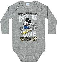 Body Manga Longa Mickey Estampa Surf, Baby Marlan