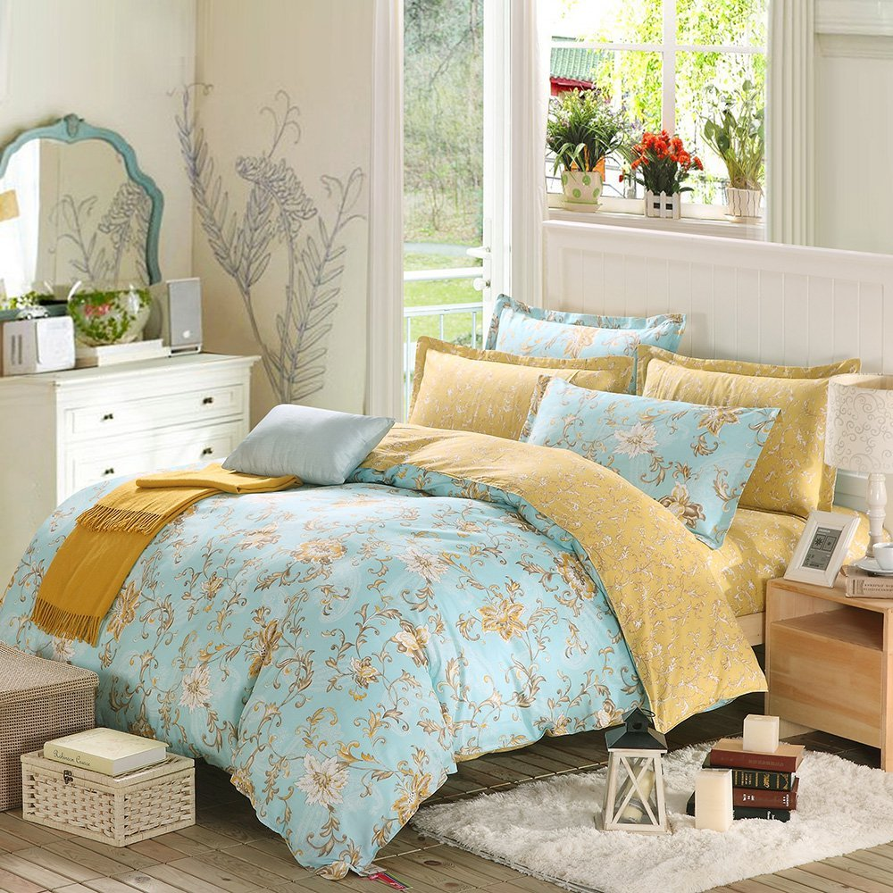 spring floral bedding sets sale – ease bedding with style -  piece duvet cover and pillow shams bedding set