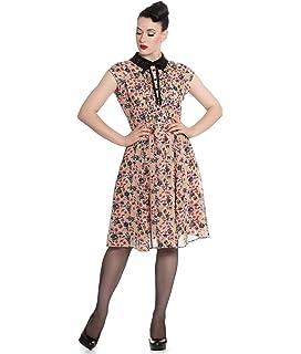 Hell Bunny Gothic Floaty Black 50s Dress MEDUSA Python Snake Rose All Sizes