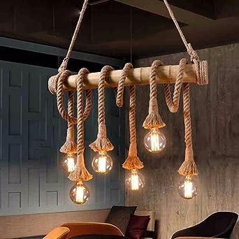 Vintage luce pendente corda industriale lampadario per Cucina Sala ...