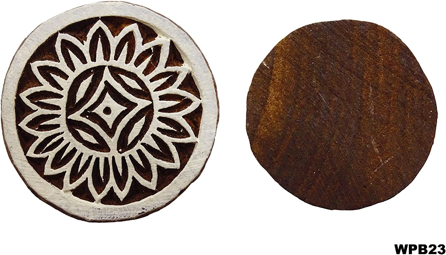 Peegli Elegant Designs Wooden Block Rangoli Art Decor Indian Textile Printing Stamps Exclusive Pattern Hand Carved DIY Scrapbook/Projects For Clay Tattoo Decorative