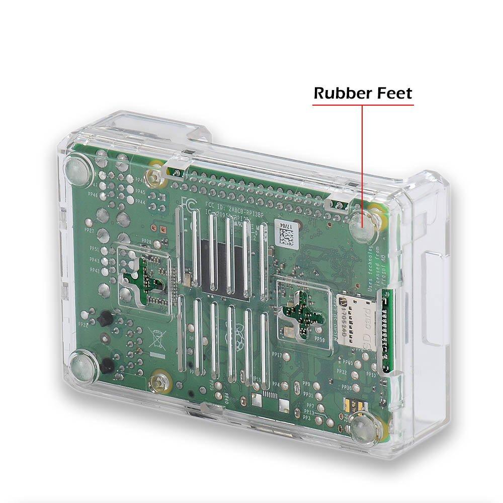 Raspberry Pi 3 b+ Case, iUniker Raspberry Pi 3 Model B+ Transparent Case with Raspberry Pi Heatsink for Raspberry Pi 3B+, 3B, 2B - Access to All Ports (Clear) by iUniker (Image #7)