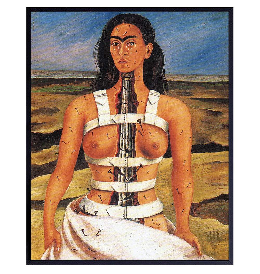 Frida Kahlo Wall Decor - 8x10 Frida Kahlo Art Poster - Frida Kahlo Wall Art - Frida Kahlo Decorations - Frida Kahlo Paintings - Frida Kahlo Gifts for Women - Frida Kahlo Print