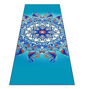 Heathyoga Toalla para Yoga ingeniosos Bolsillos en Las Esquinas, tapete- Toalla para Yoga,