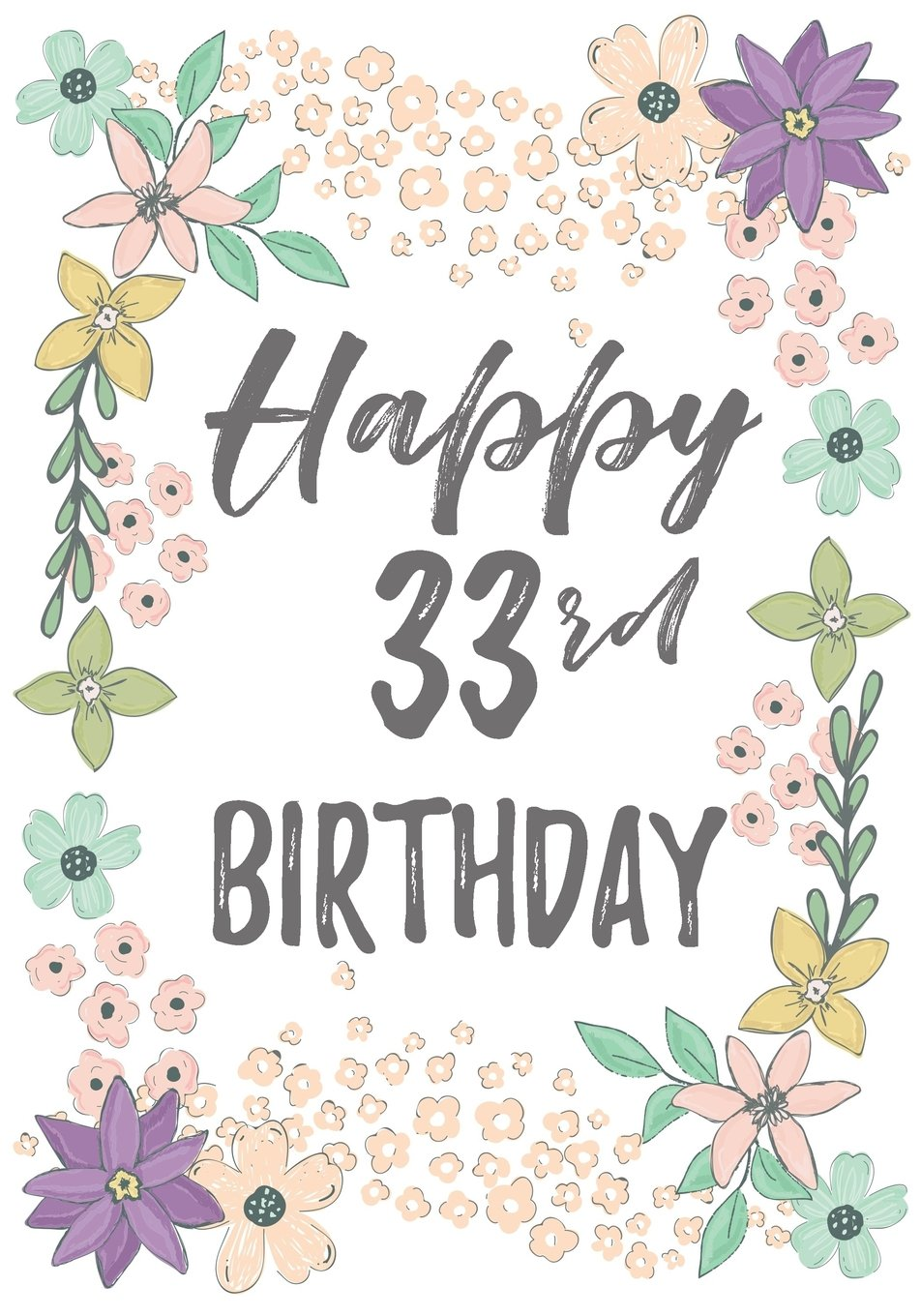 Download Happy 33rd Birthday: Birthday Gifts For Her, Birthday Journal Notebook For 33 Year Old For Journaling & Doodling, 7 x 10, (Birthday Keepsake Book) ebook