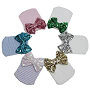Ademoo Baby Girls Newborn Hospital Hat with Sequin Bow (6 colors)