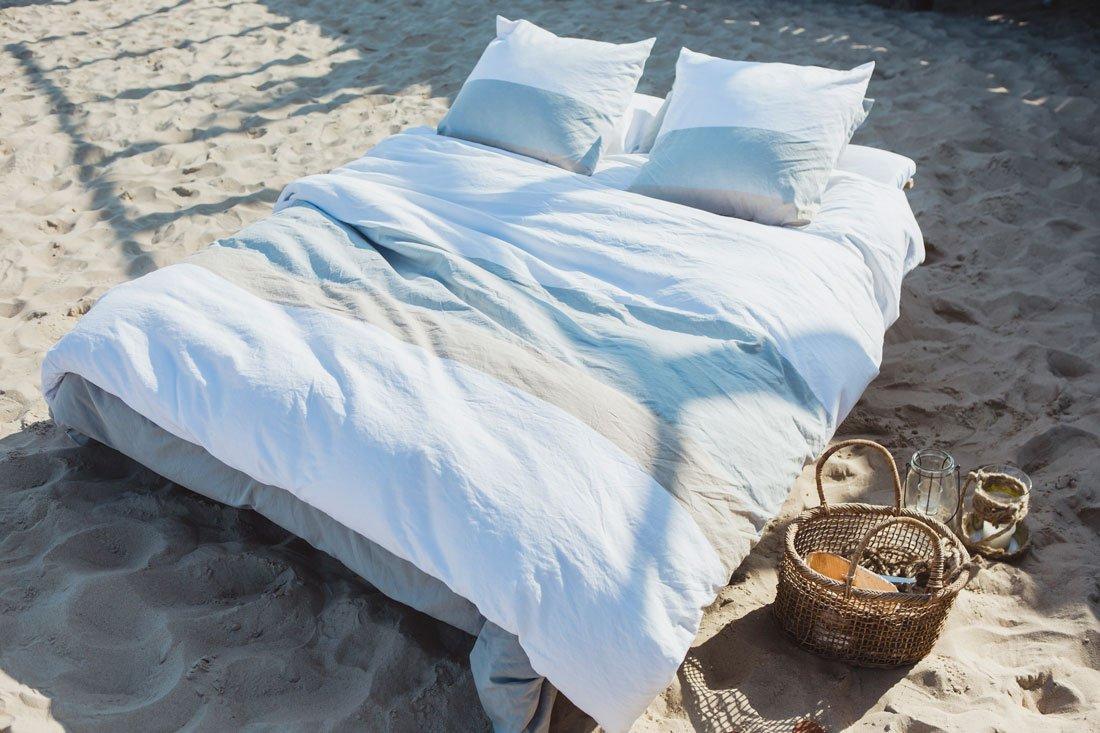 Halbleinen Bettbezug Campomoro 260x240 cm, Stripe - Libeco Home
