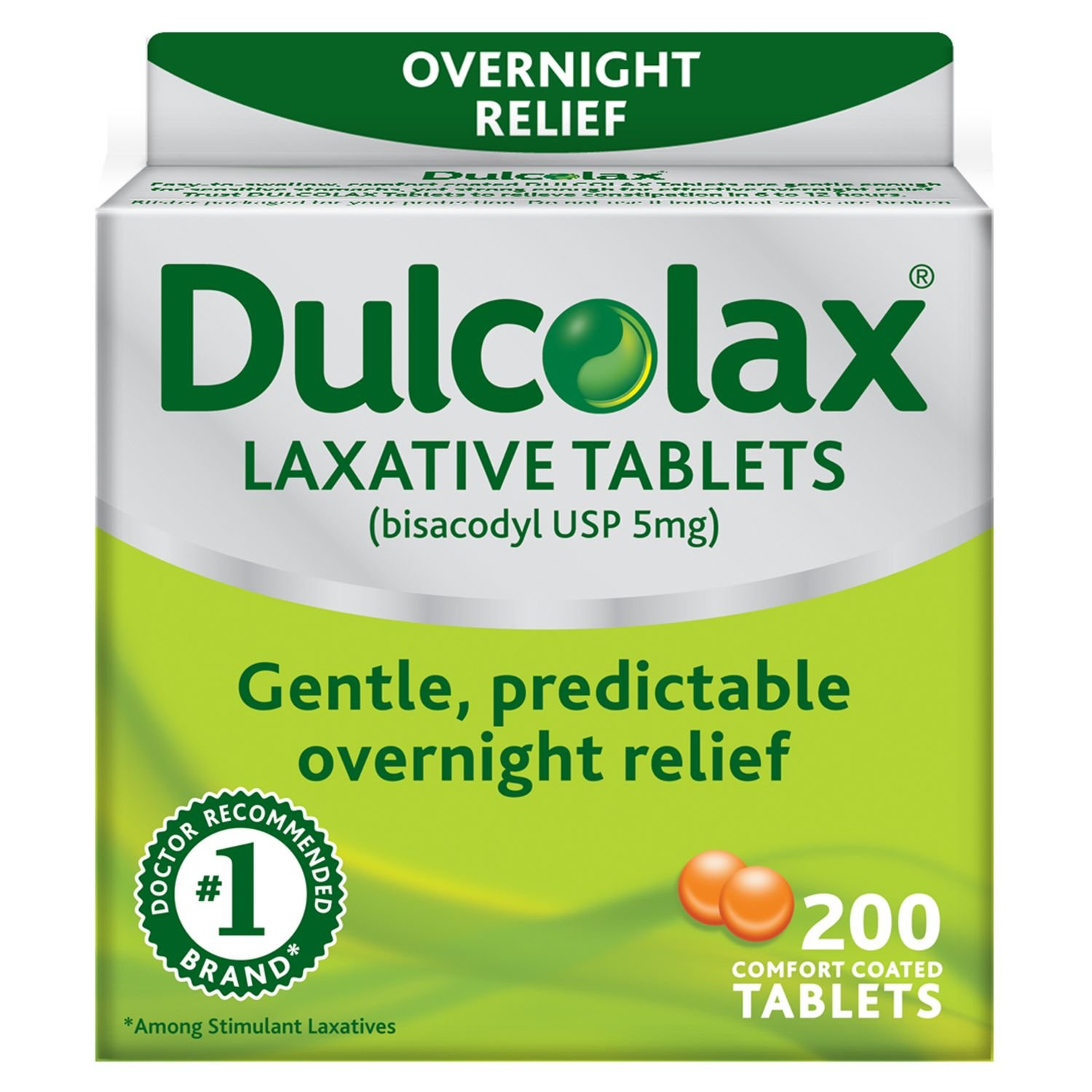 Dulcolax Laxative 5 mg - 200 Tablets (2 Packs) by Dulcolax