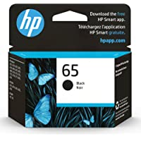 Original HP 65 Black Ink Cartridge   Works with HP AMP 100 Series, HP DeskJet 2600, 3700 Series, HP ENVY 5000 Series…