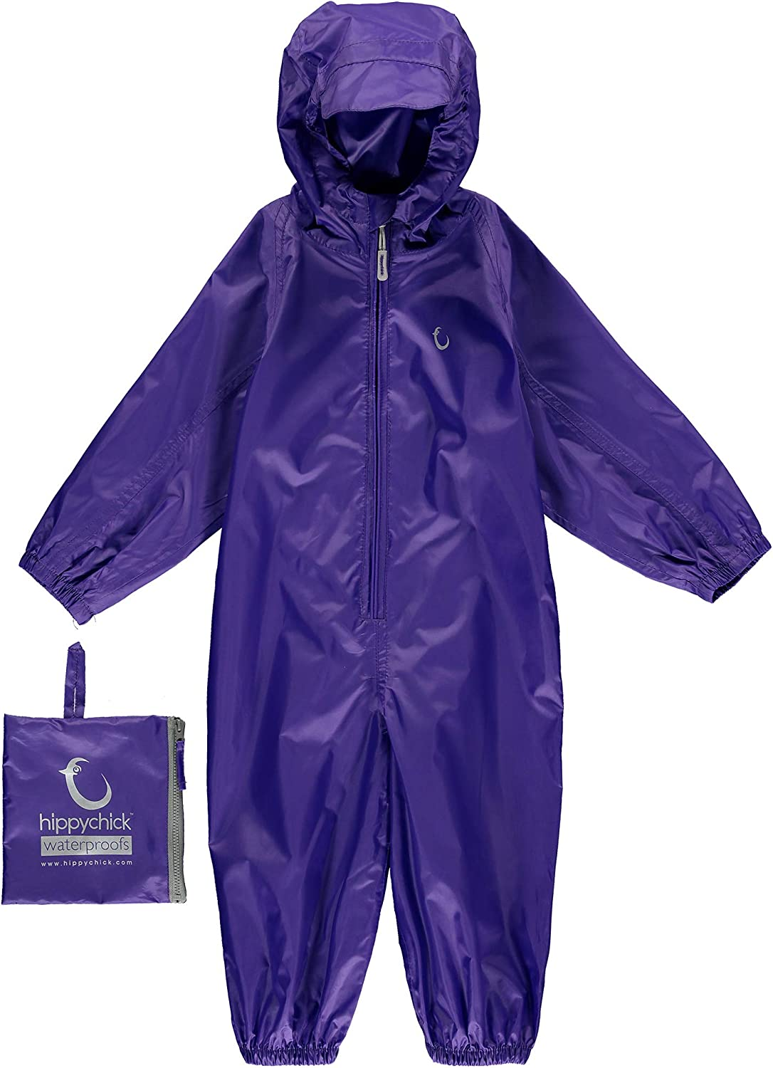 Ultra Violet Hippychick Childrens Waterproof Packasuit All in One Suit