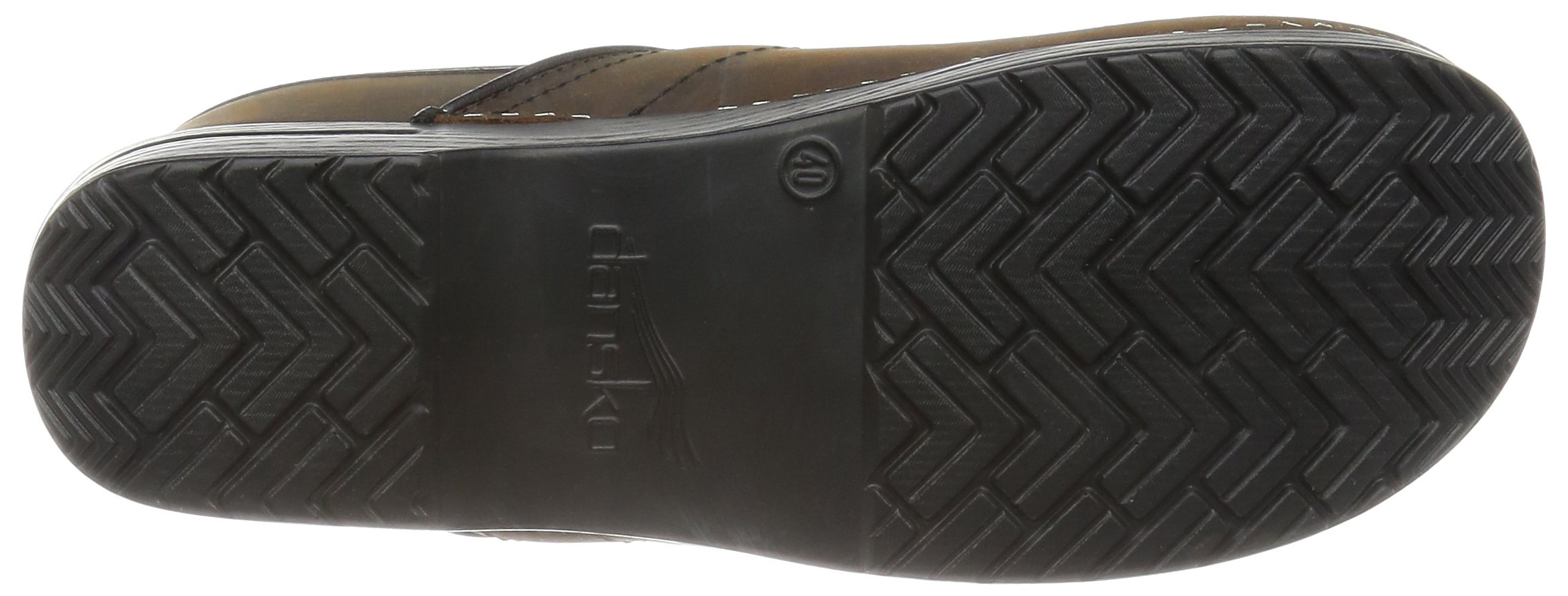 Dansko Women's Professional Oiled Leather Clog,Antique Brown/Black,35 EU / 4.5-5 B(M) US by Dansko (Image #3)