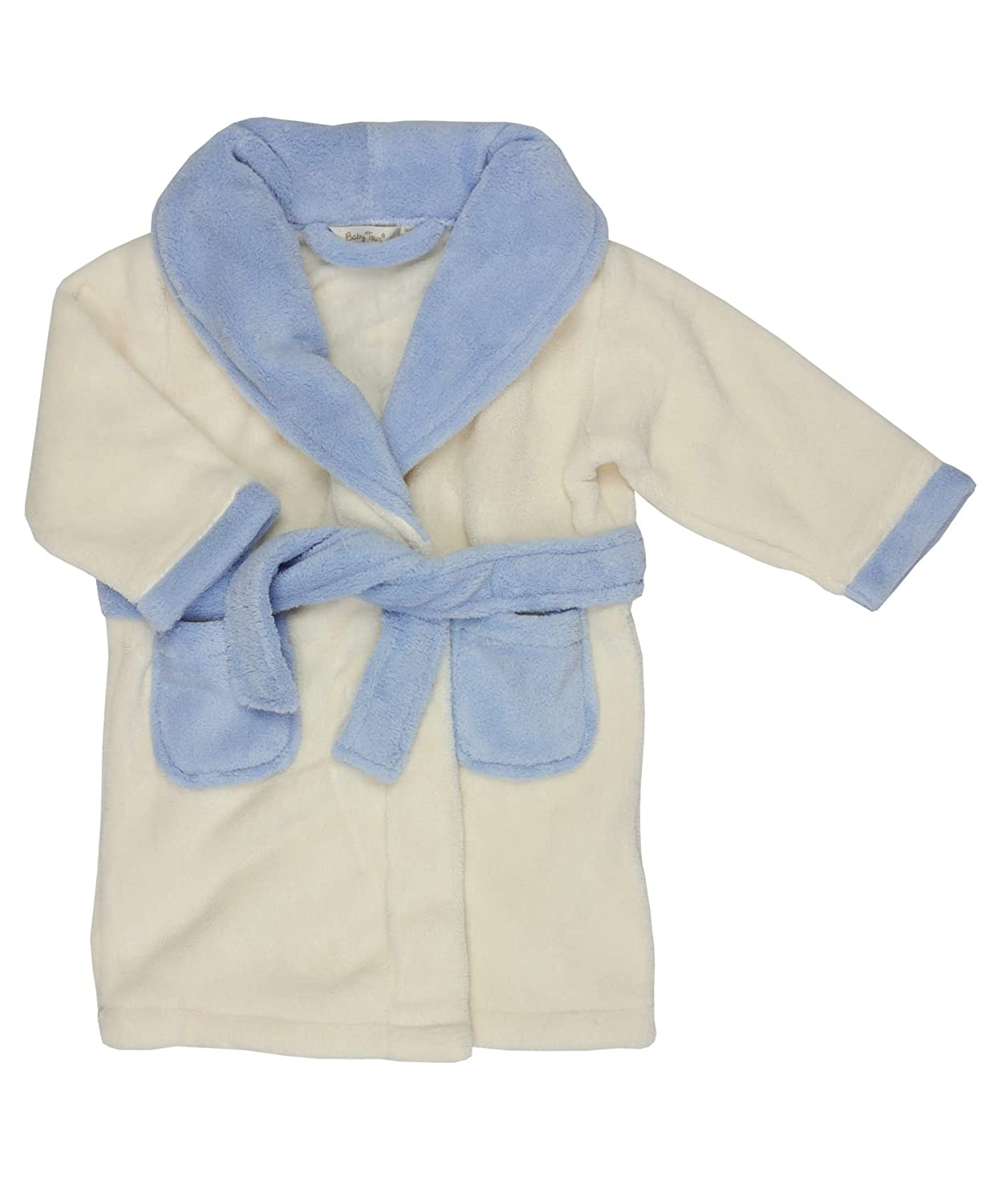 BABY TOWN Baby Boys Fleece Pocket Dressing Gown