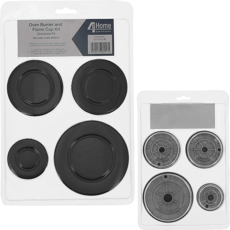 UNIVERSAL RANGESMASTER /& LEISURE Cooker Oven Hob Black CONTROL KNOB /& ADAPTORS