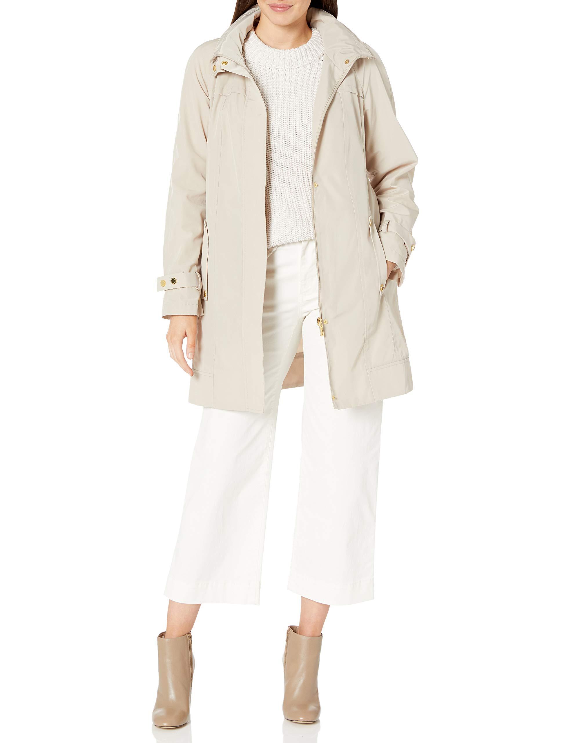Calvin Klein Women's Long Packable Anorak Jacket, Buff, X-Small by Calvin Klein