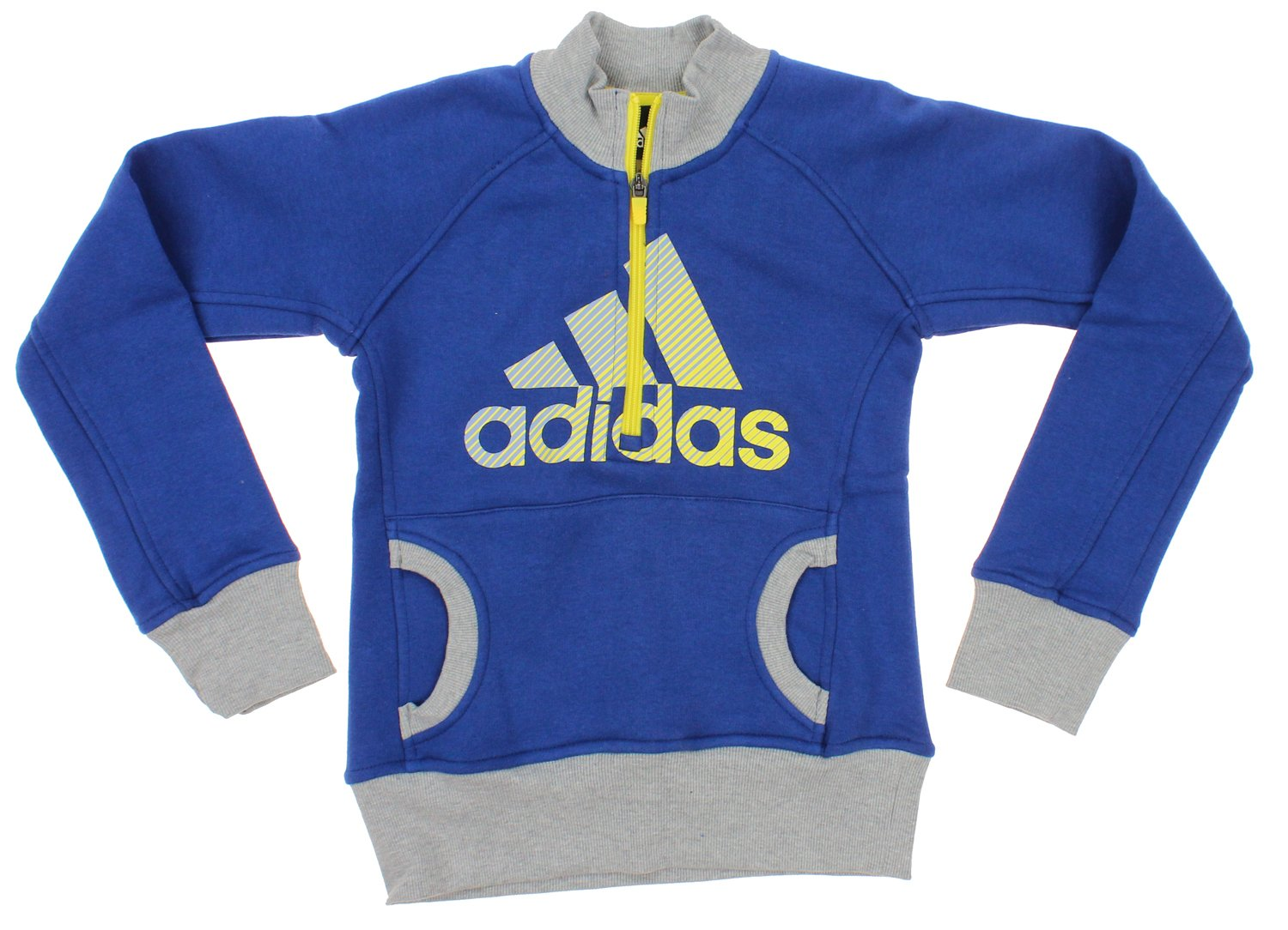 Adidas Youth Big Girls Cotton Fleece Graphic Pullover Sweater