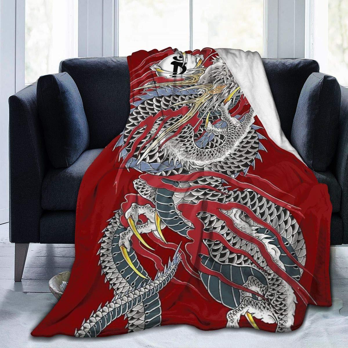 LDDDP Yakuza - Manta de Forro Polar con diseño de dragón y Tatuaje ...