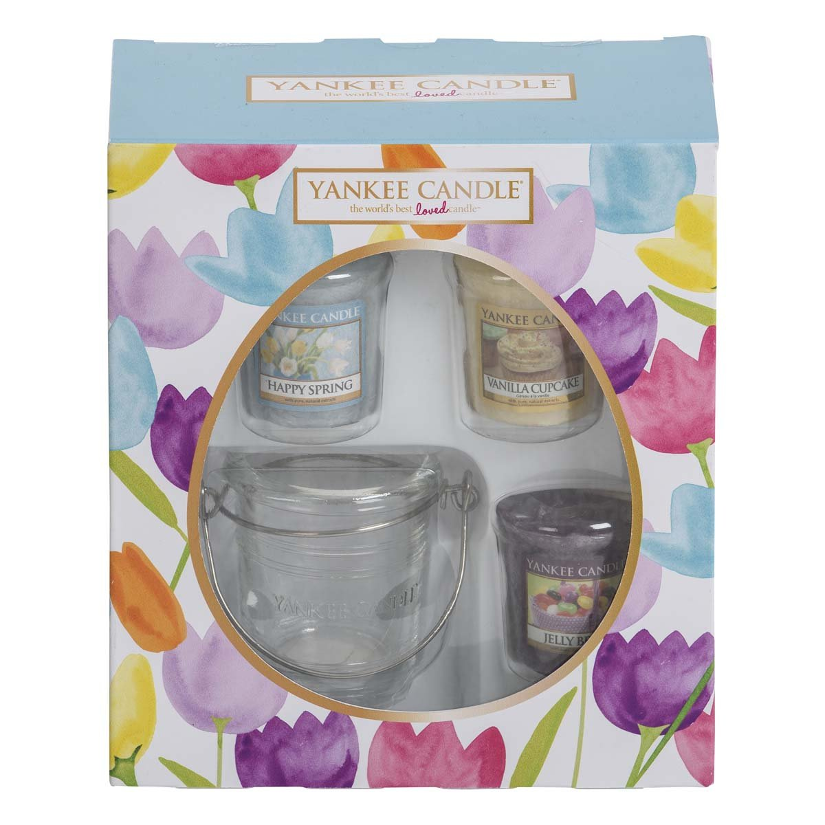 Easter gifts for amazon yankee candle easter 3 votive and votive holder giftset multi set of 4 negle Choice Image