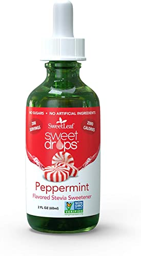 SweetLeaf Sweet Drops Liquid Stevia Sweetener, Peppermint, 2 Ounce Pack May Vary