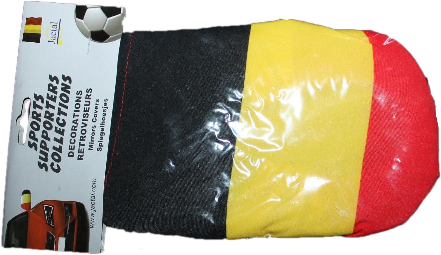 jactal-lot de 2 chaussuettes r/étroviseurs belgique-noir jaune rouge-mixte