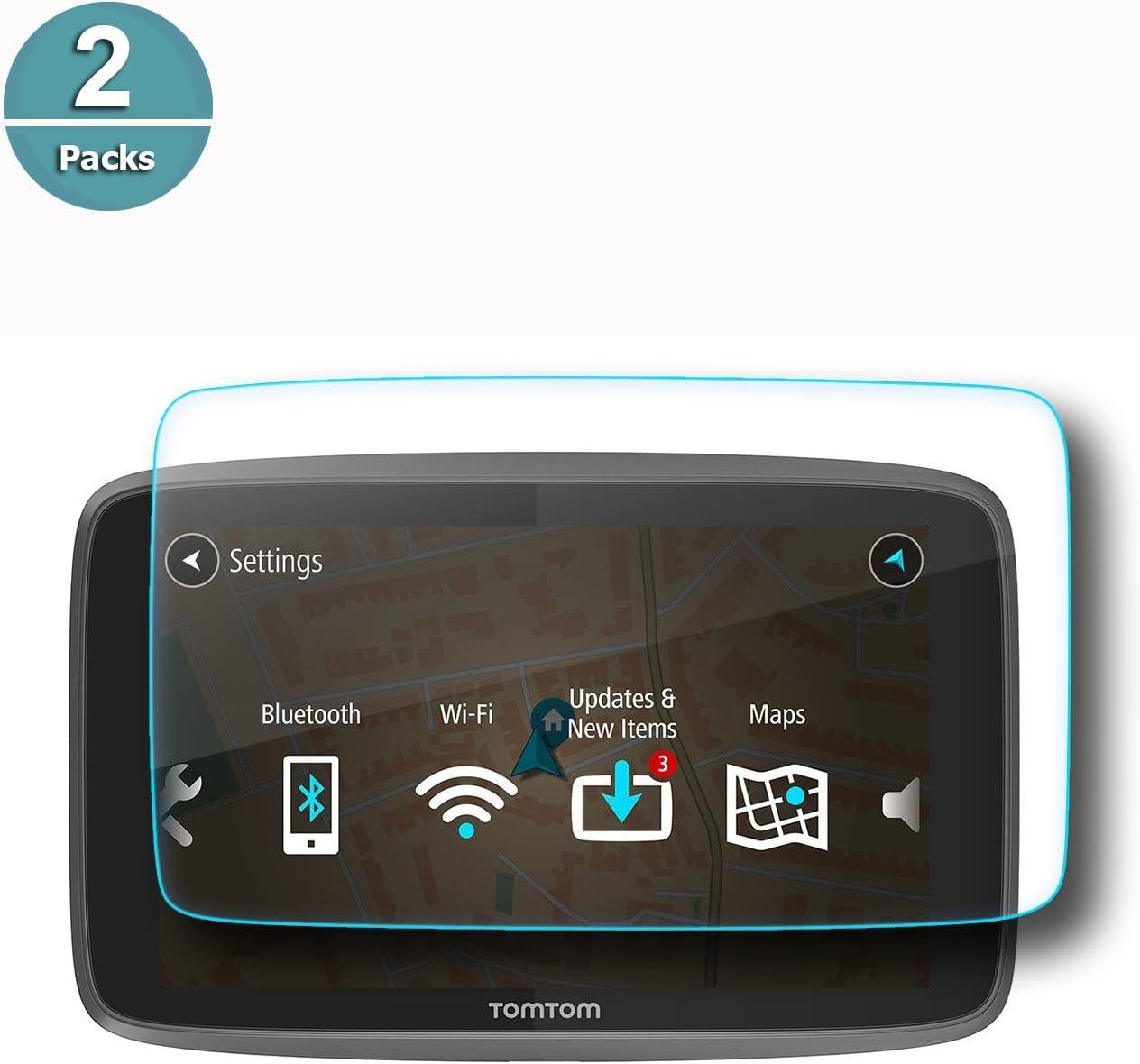 RUIYA Protector de pantalla de vidrio templado para TomTom GO 620 6200 6250 Sistema de navegación GPS, película protectora ultra transparente【6 pulgadas】