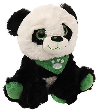agradable suave Panda de peluche con grandes redondos brillantes ojos y pañuelo, aprox. 40