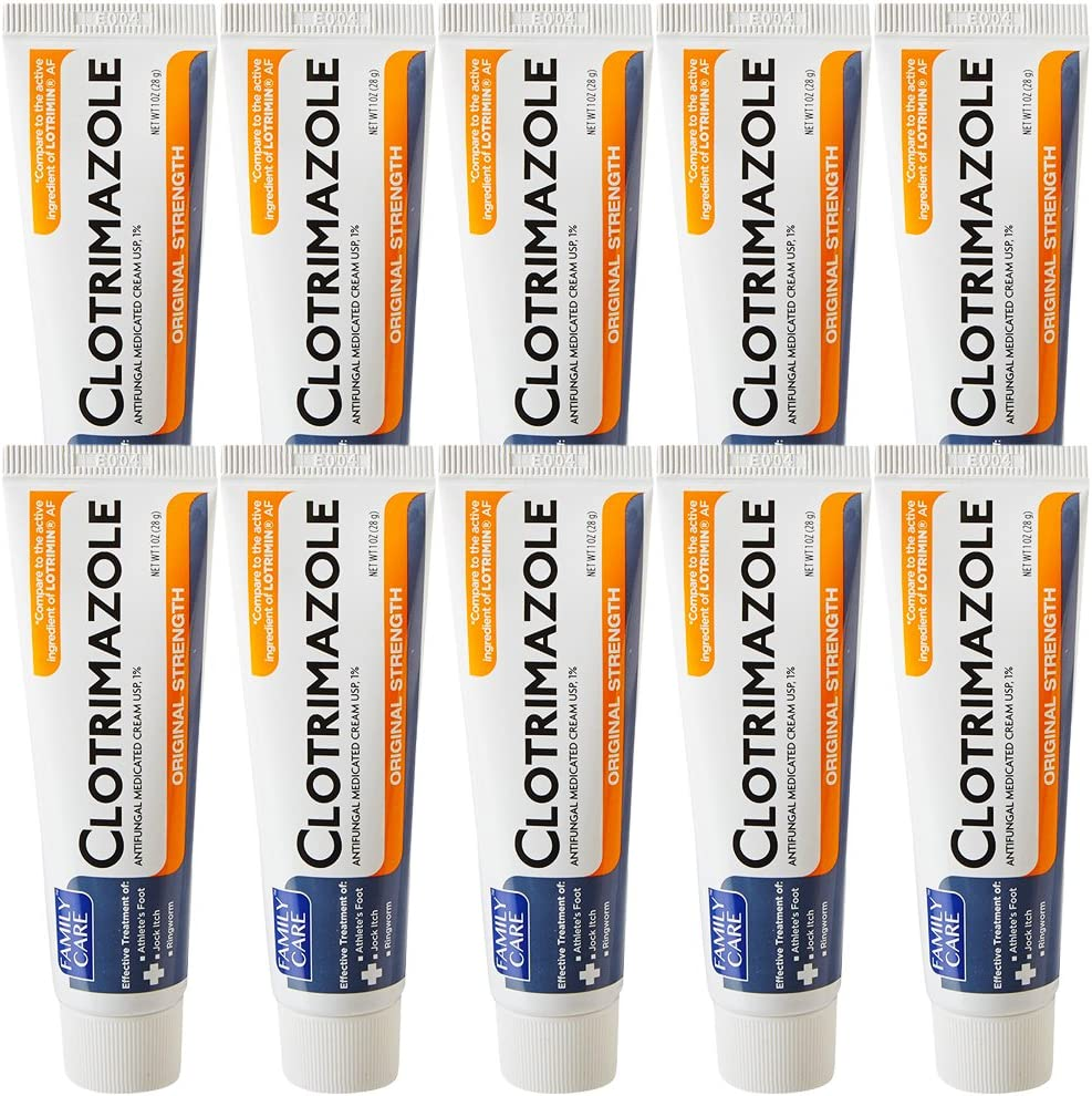 Family Care Clotrimazole Anti Fungal Cream, 1% USP Compare to Lotrimin 1oz. (10 Pack): Health & Personal Care