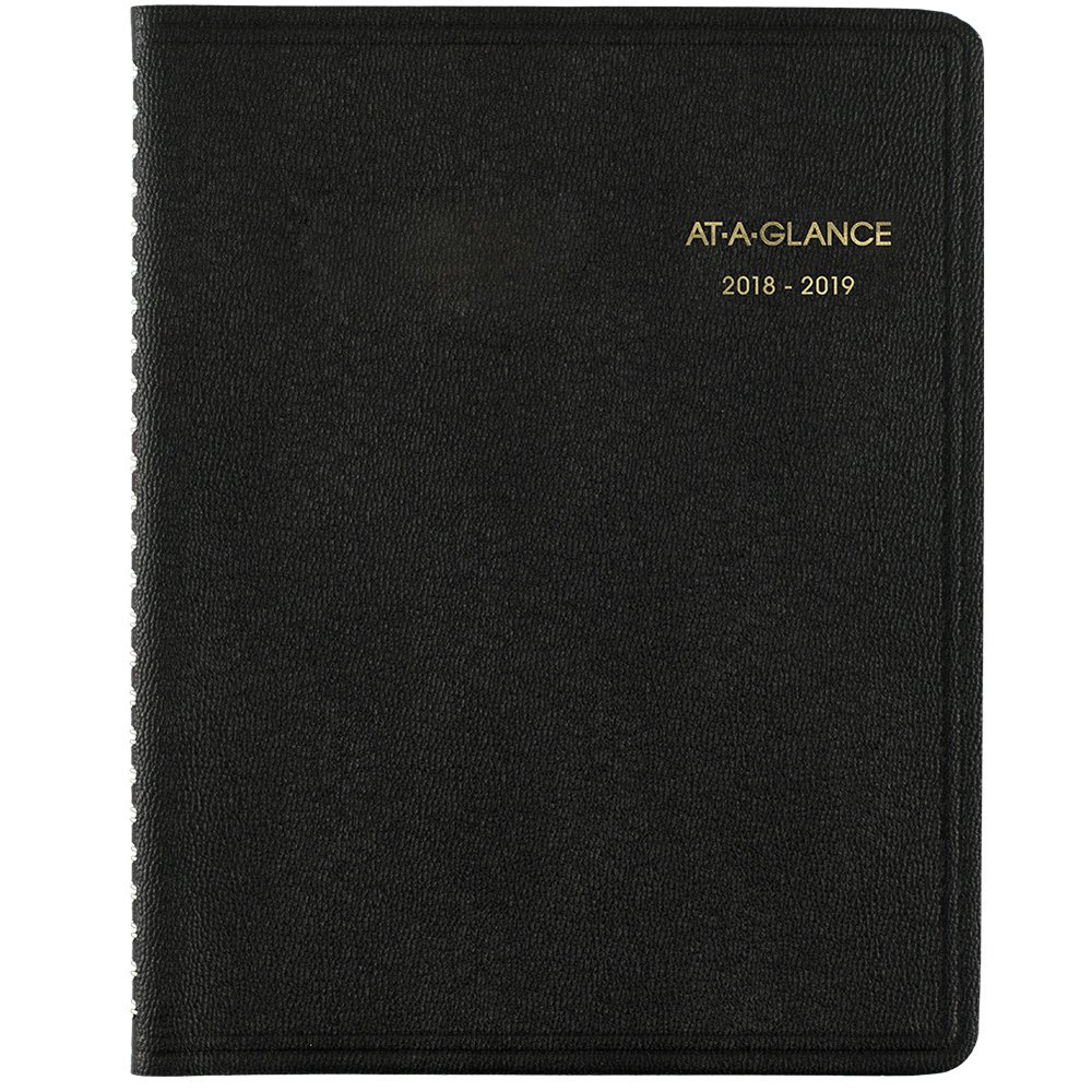 At-A-Glance 2018-2019 Academic Year Monthly Planner, Medium, 6-7/8 x 8-3/4, Black (7012705)