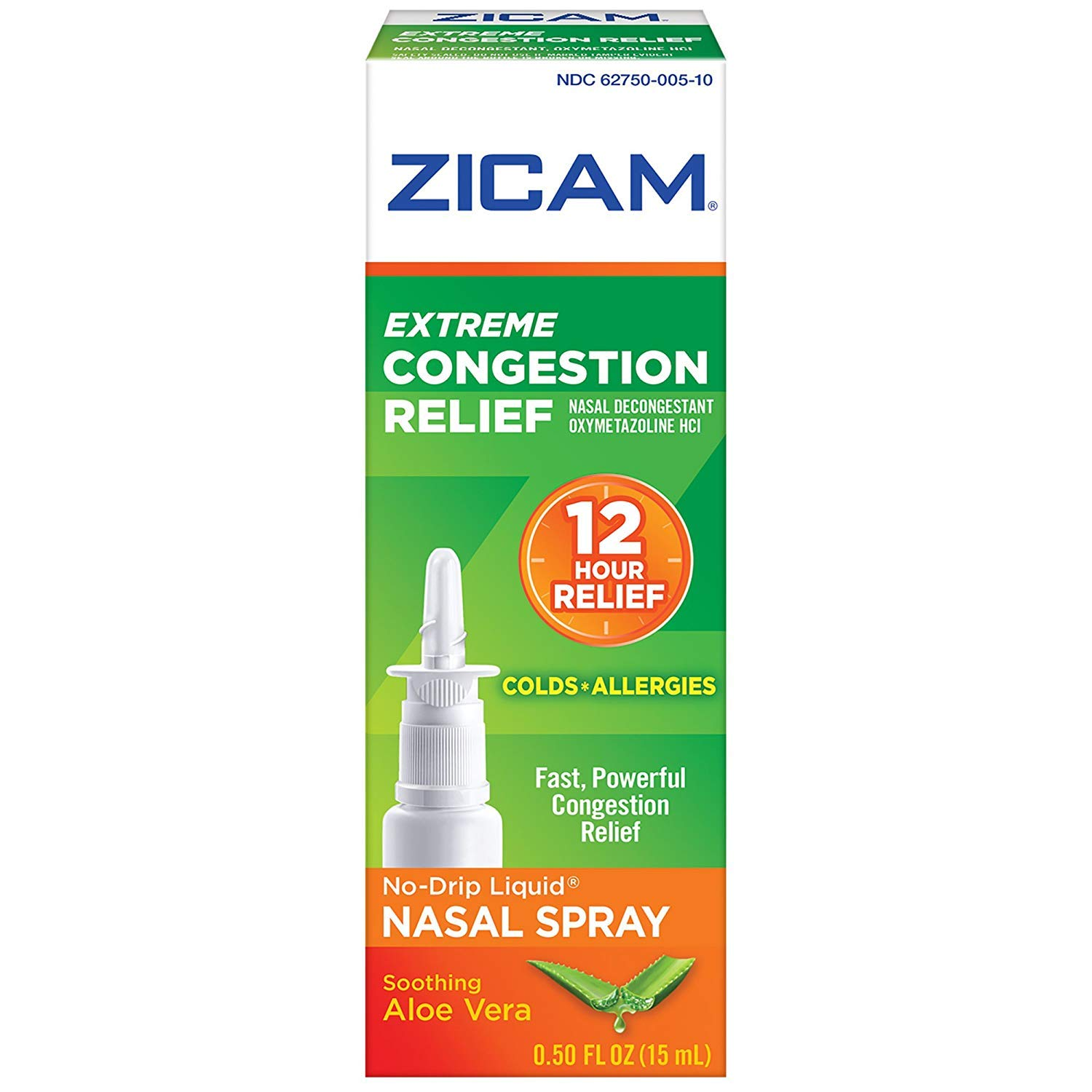 Zicam Extreme Congestion Relief Liquid Nasal Gel - 0.5 oz, Pack of 5 by Zicam