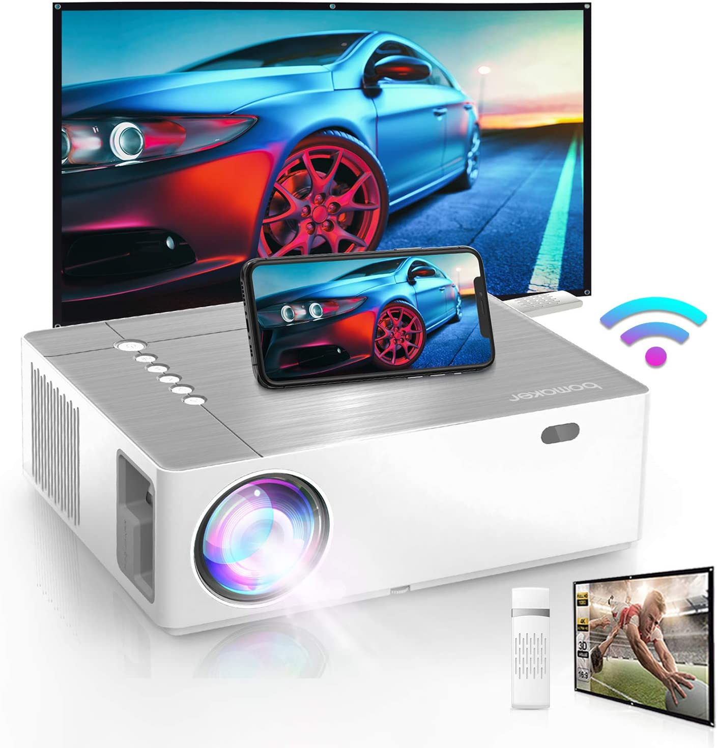 Bomaker 2021 Upgraded Outdoor Projector