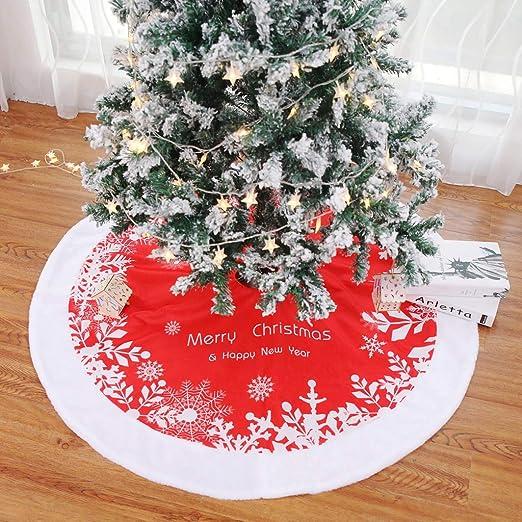 XDLUK Manta De Navidad Falda del Árbol De Navidad del Copo Nieve ...