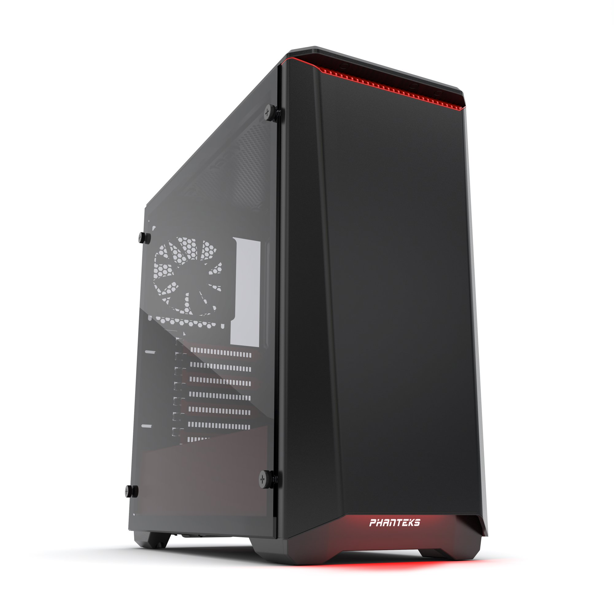 Phanteks PH-EC416PSTG_BR Eclipse P400S Silent Edition with Tempered Glass, Black/Red Cases