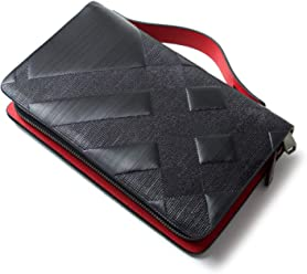a4d27b1e3273 [ INDIEee ] インディ イタリア製 ストリシア ダブルファスナー セカンドバッグ 本革 レザー ケース 大きい財布