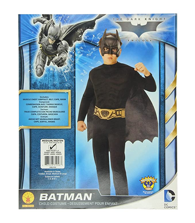 Amazon.com: DC Comic Batman The Dark Knight Child Costume, Medium: Clothing