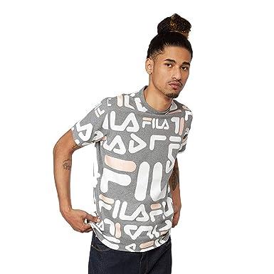d471b02346 Amazon.com: Fila Men's Logan T-Shirt, Heather Grey, Black, White, S:  Clothing