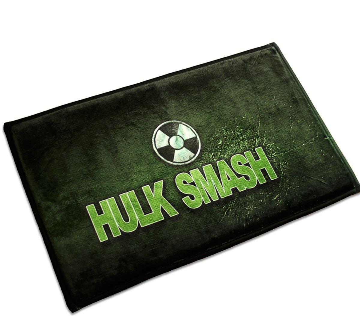 HULK SMASH Mats Cover Non-Slip Machine Washable Outdoor Indoor Bathroom Kitchen Decor Rug ,